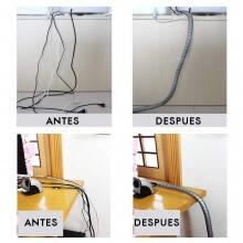 Ordena Cables Espiral Plastico