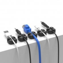 Sujeta Cables adhesivos Negros