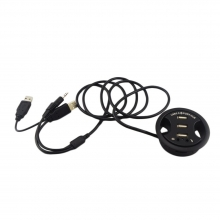 Pasacables con 3 Puertos USB + 2 Audio