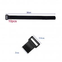 10 Amarra Cables Reutilizables 30 cm