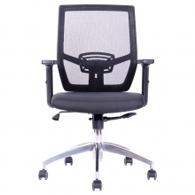 silla ejecutiva gris