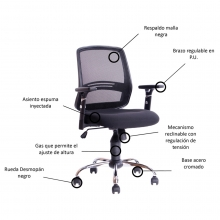 silla ergonomica cubo