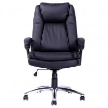 sillón en cuero negro