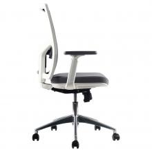 silla oficina giratoria blanca