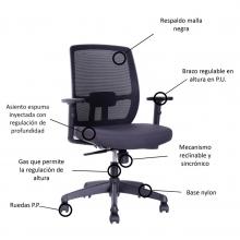 silla de oficina alta gama