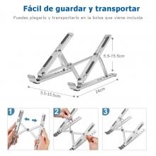 Soporte plegable y ajustable para laptop