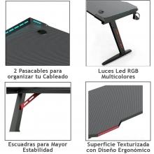 escritorios con luces led