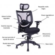 silla ergonomica home office