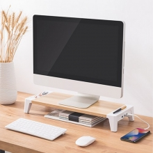 Elevador de Monitor 2 USB + 1 puerto carga rápida