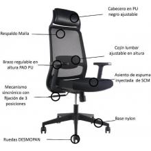 Silla de escritorio con cabecero