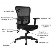 silla gala con soporte para espalda
