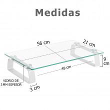 Elevador de monitor en vidrio