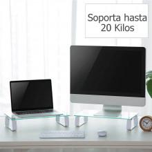 base para monitor de vidrio