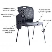 sillas universitarias usadas