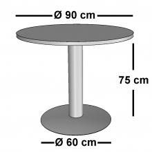 Mesa de Reunión Redonda DISCO 90 cm