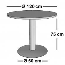 Mesa de Reunión Redonda DISCO 120 cms