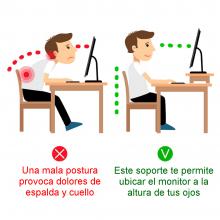 base para monitor de escritorio