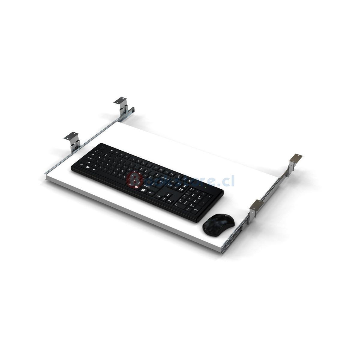 bandeja porta teclado en color blanco