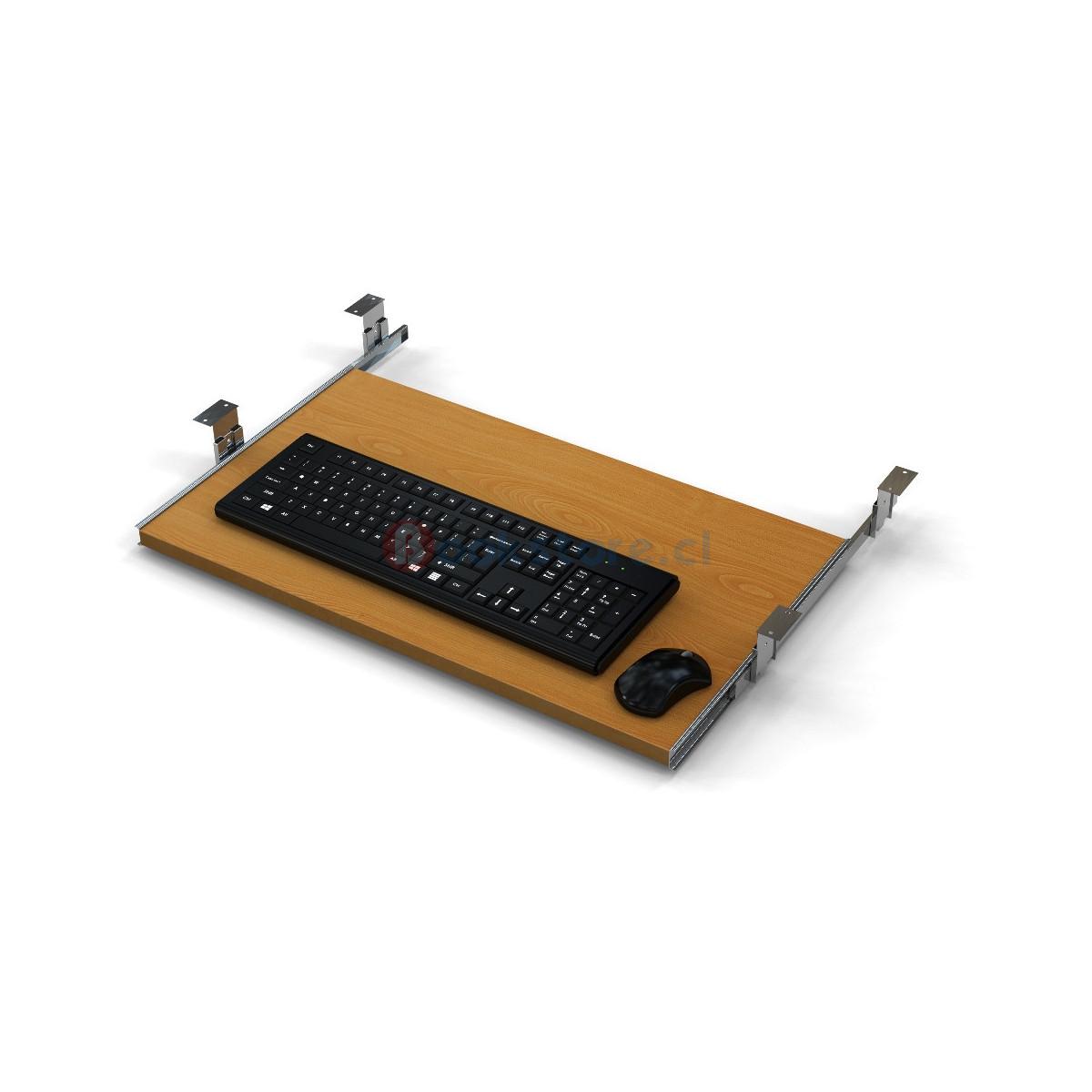 porta teclado madera
