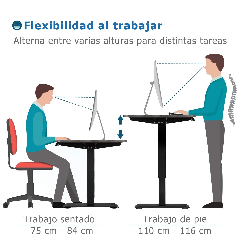 escritorio con regulacion de altura
