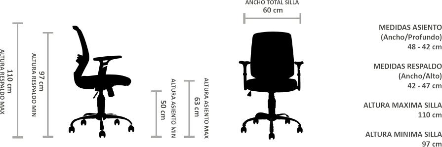 silla ergonomica en malla mesh