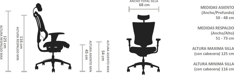 silla ioo black ergonomica