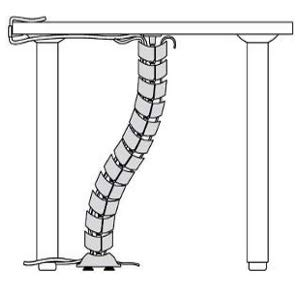 espiral organizador cables