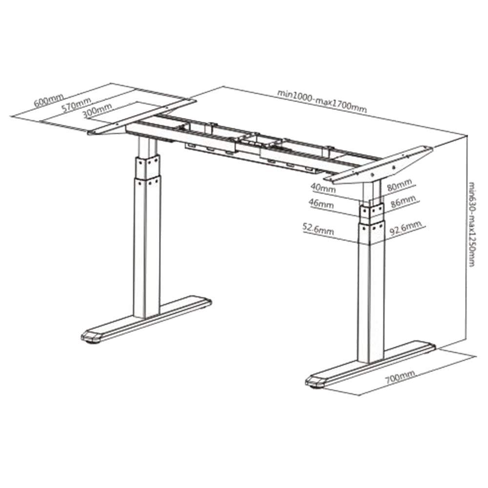 mesa oficina regulable en altura