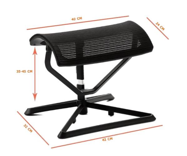 apoya pies para escritorio ergohuman