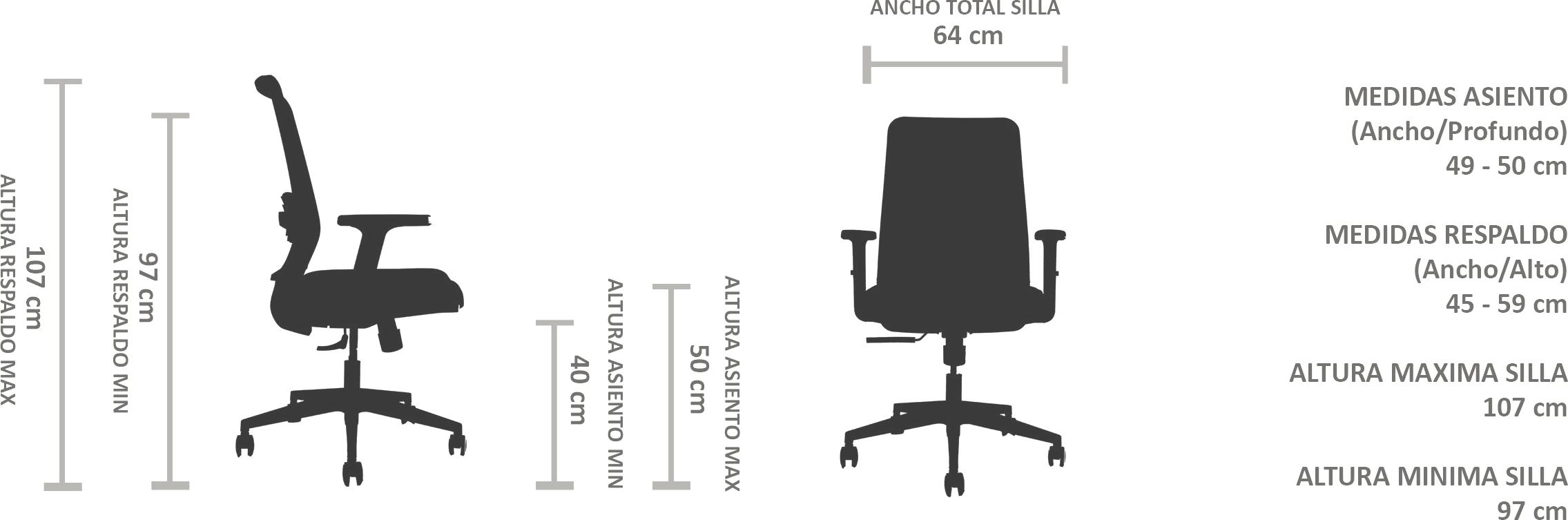 silla estudio ergonomica