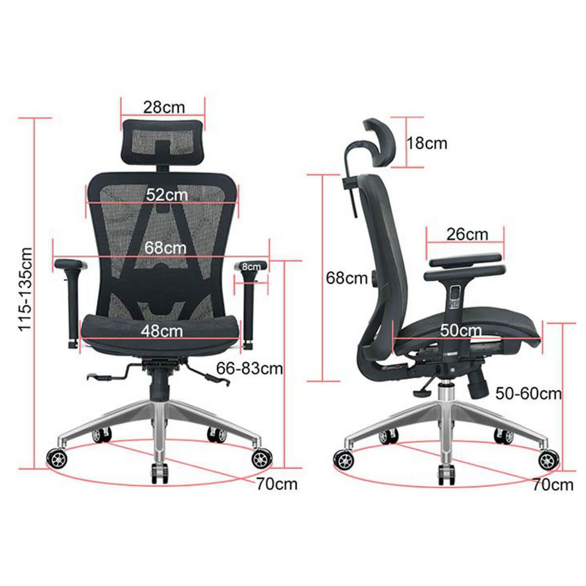 Ficha técnica silla ergonómica chile