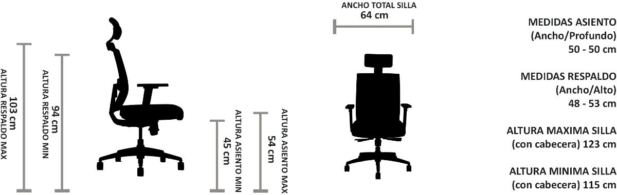 silla de escritorio con soporte lumbar Tor