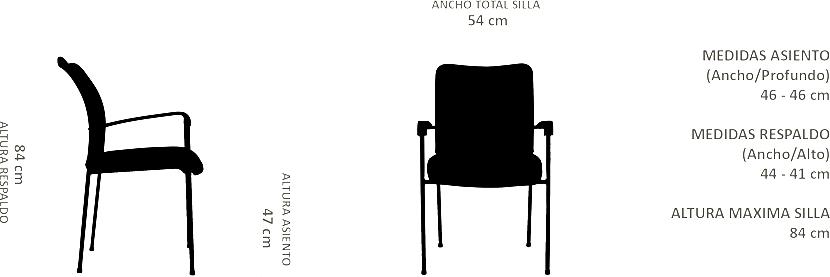 SILLA DE VISITA STRONG