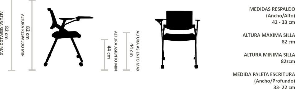 silla universitaria Alba
