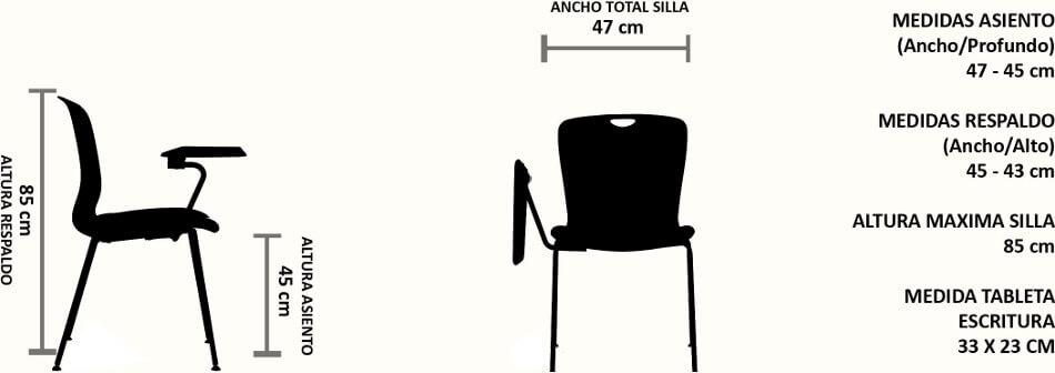 sillas universitarias tapizadas