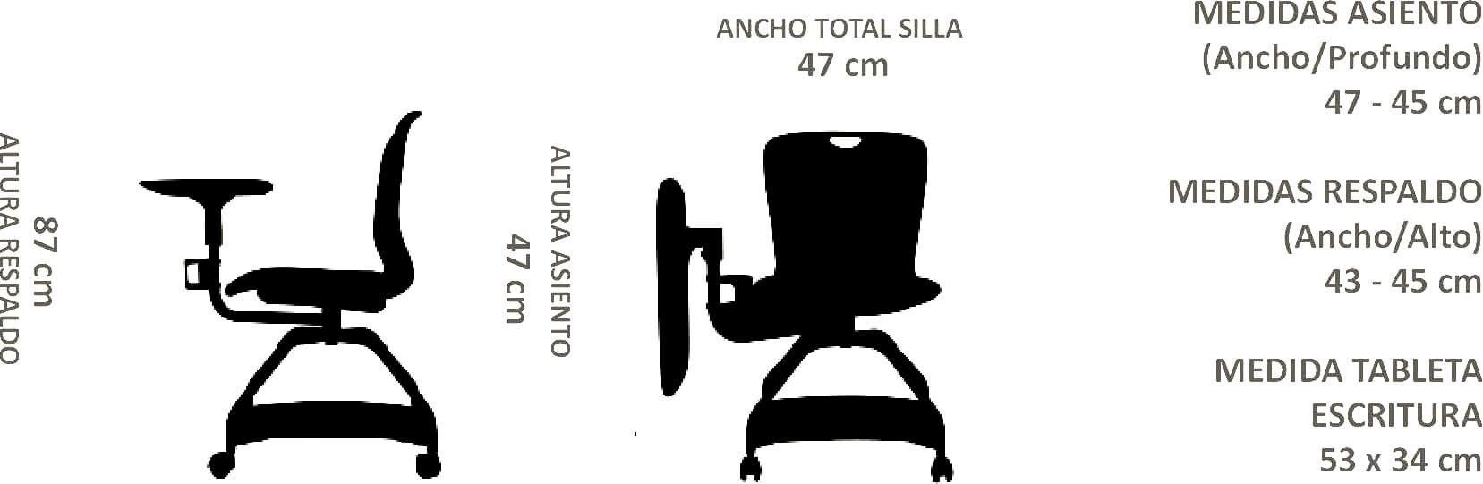 silla universitaria tiber