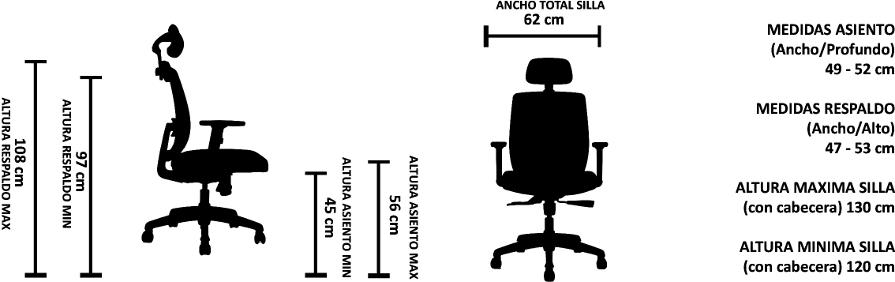 Silla de escritorio para uso intensivo