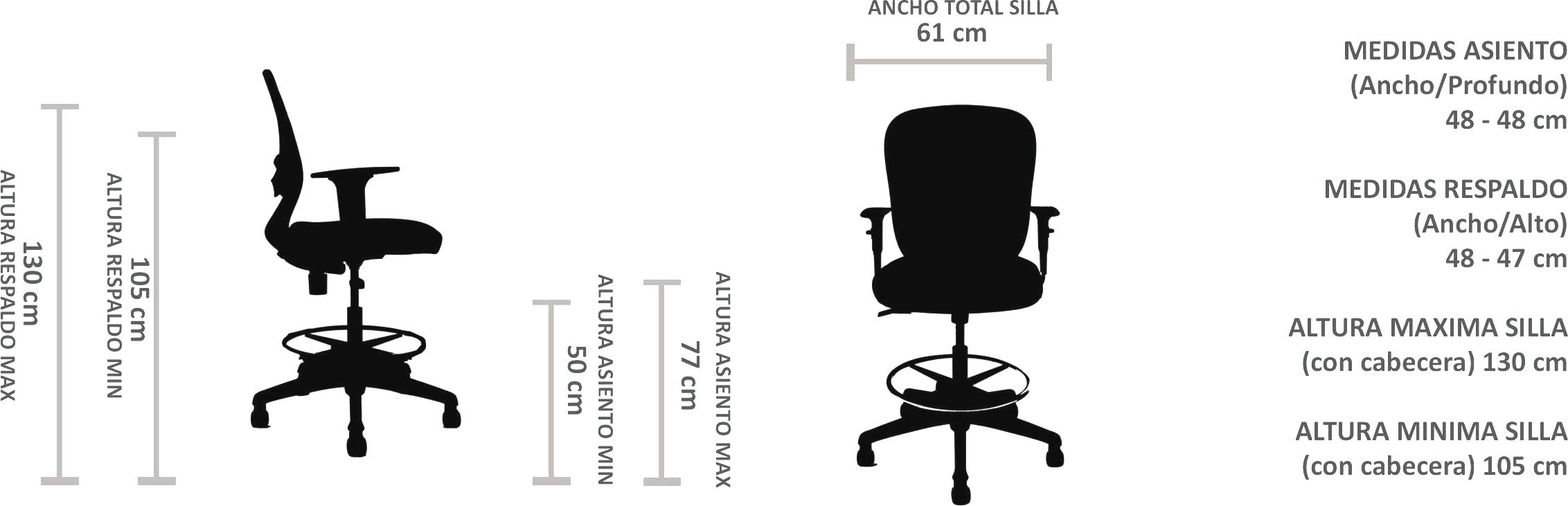 silla cajero ergonómica